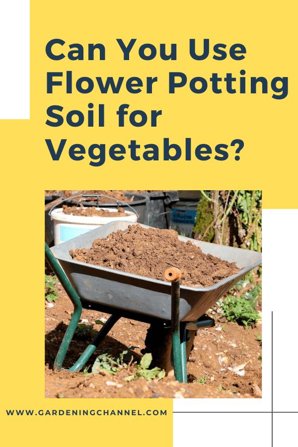 suelo en carretilla con texto superpuesto ¿puede usar tierra para macetas para verduras?