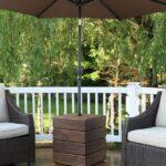 Cómo construir una mesa auxiliar con soporte para paraguas