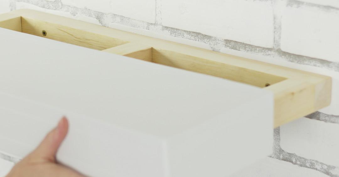 Cómo construir estantes flotantes