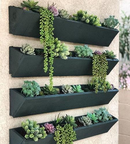 Jardinera de pared para patio