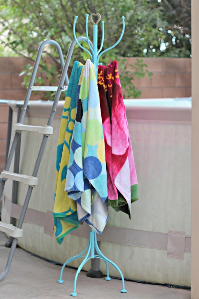 Perchero para toallas mojadas