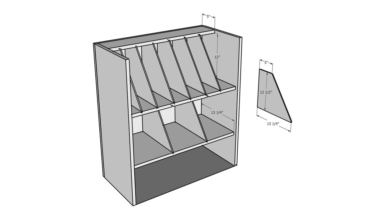 House One, dibujo de lista de cortes del organizador de herramientas de banco de trabajo móvil