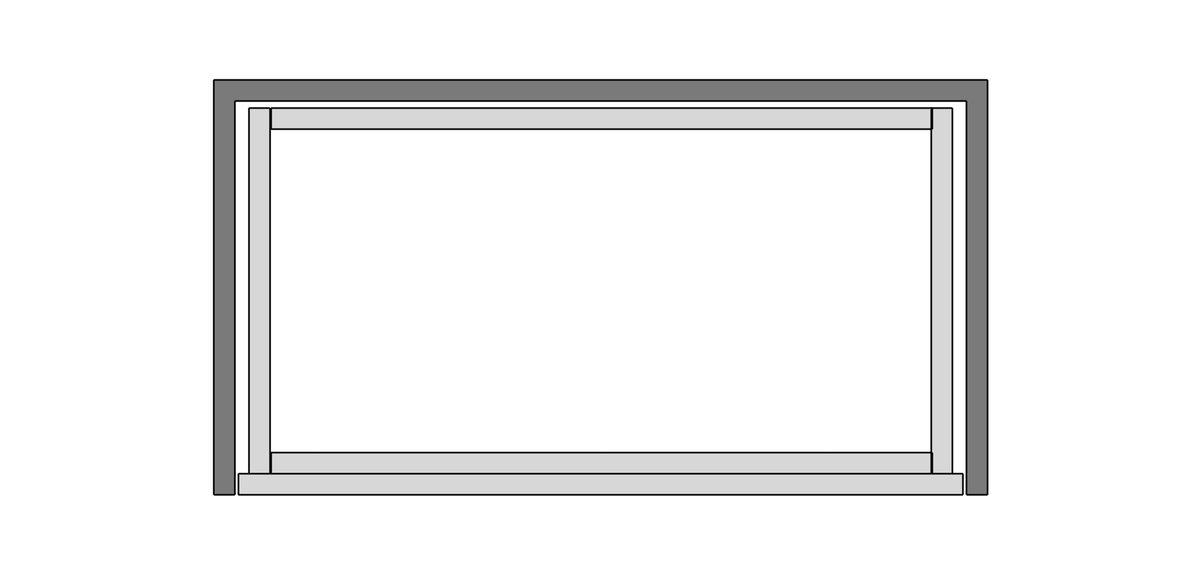 Banco de trabajo móvil con cajones, dibujo de lista de corte