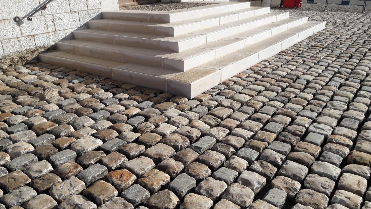 Pavimentadoras enteras de granito Fontainebleau