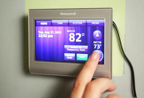 mantenerse fresco en termostato de calor extremo